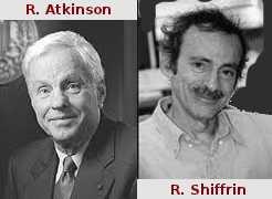 """Atkinson et Shiffrin ont proposé, en 1968, le """"modèle des trois mémoires"""" composé de la mémoire sensorielle(MS), de la mémoire à court terme (MCT) et de la mémoire à long terme (MLT)."""