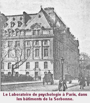 Le Laboratoire de psychologie à Paris, dans les bâtiments de la Sorbonne.