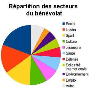 Les différents secteurs du bénévolat sont plus ou moins attractifs. Le secteurs des loisirs, de la culture et du sport sont les plus fréquentés.