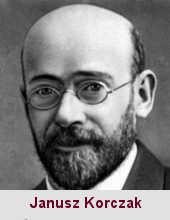 Janusz Korczak (ou Henryk Goldszmit), pédagogue (1878-1942).