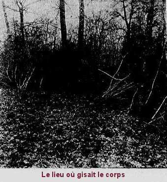 Le lieu où a été retrouvé le corps de M. Lerasle, grâce à Mme Morel.