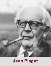 Jean Piaget, psychologue (1896-1980).