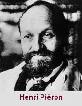 Henri Piéron, psychologue et psychophysiologiste (1881-1964).