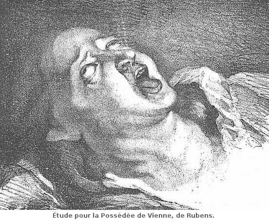 Étude pour la Possédée de Vienne, de Rubens.