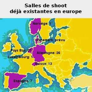 Les salles d'injection pour toxicomanes existent déjà dans de nombreux pays d'Europe: les Pays bas, la Suisse, l'Espagne, la Norvège et l'Allemagne.