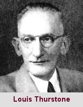 Louis Leon Thurstone, psychologue (1887-1955).